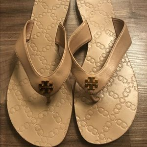 Tory Burch Leather Monroe Thong Sandals Size 10 M